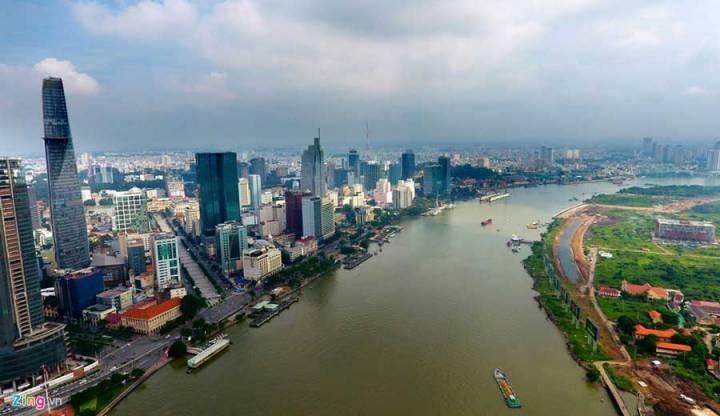 Property along the Ho Chi Minh River
