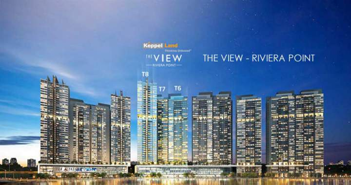 Perspective of apartment project District 7 The View Riviera Point