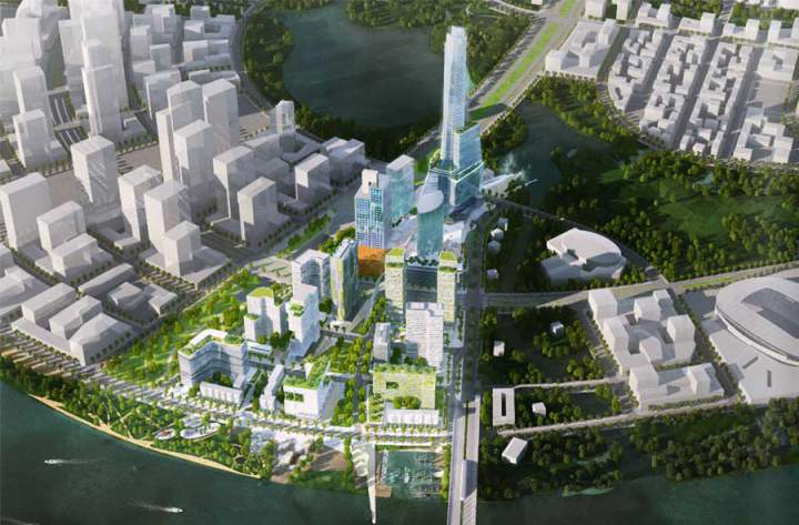 Eco Smart City is invested by Lotte Group with a capital of VND 20,100 billion.