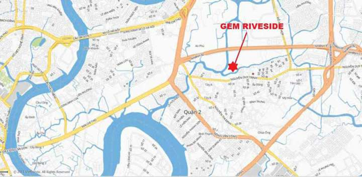 location of Gem Riverside project
