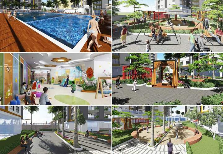 Xi Grand Court integrates all facilities inside the project.