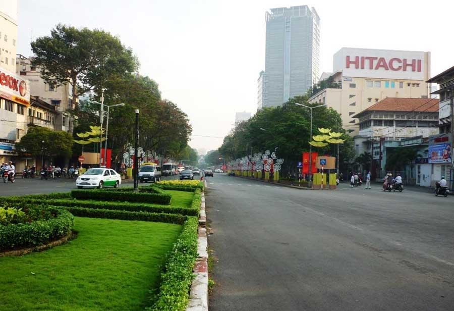 The street has a million dollar facade in HCM City