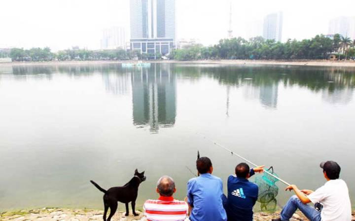 Thanh Cong lake filling