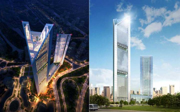 The tallest towers in 7 economic regions in Vietnam