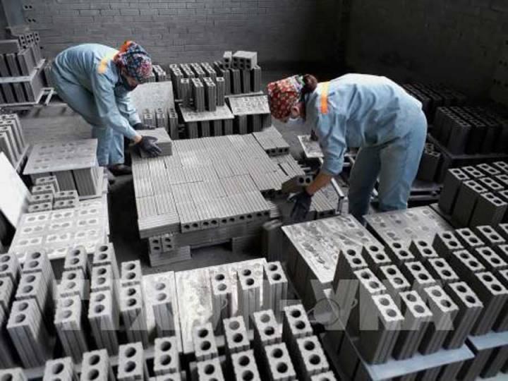 Unbaked brick production