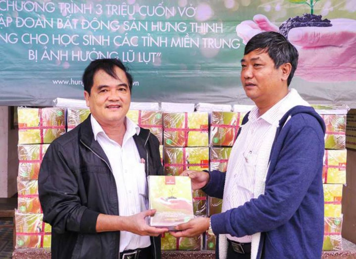 Hung Thinh Corp asks students in the flood zone