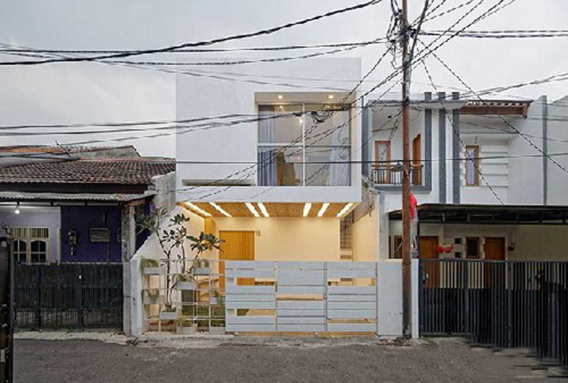 The beautiful 3 storey house in Indonesia offers complete living space