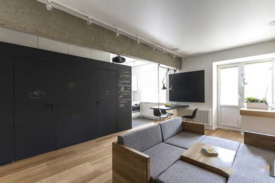 The apartment is spacious thanks to smart interior