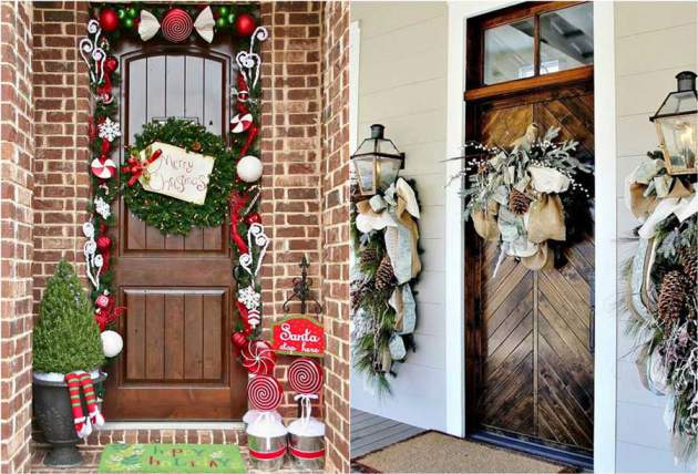 Beautiful house decorated Christmas