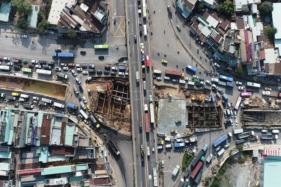 Thu Thiem 2 Bridge , the intersection between My Thuy and traffic works will be completed in 2018