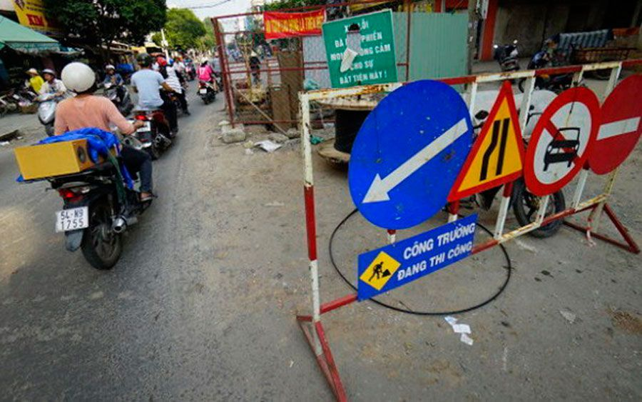 Ho Chi Minh City banned digging 492 routes in 2017