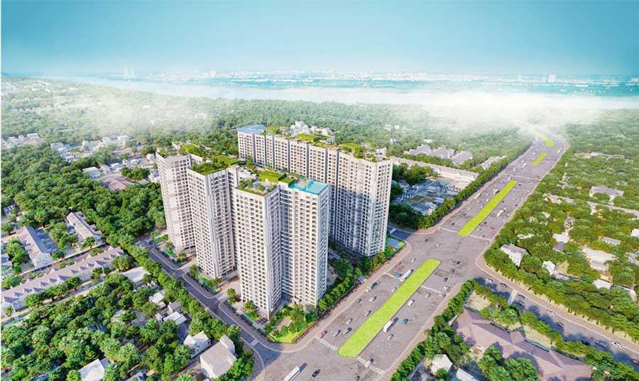 Imperia Sky Garden will benefit greatly from the opening of Minh Khai Street.