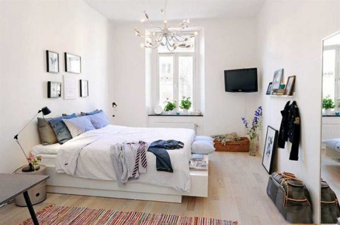 Decorate the Nordic style bedroom