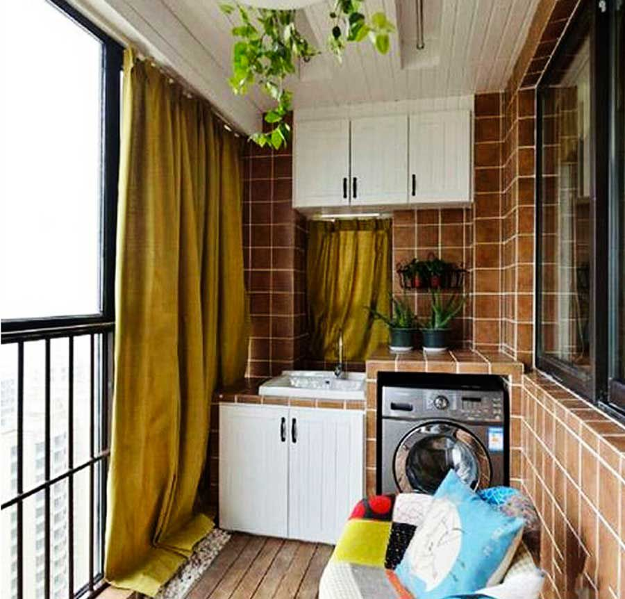 Set up washing machine for small house
