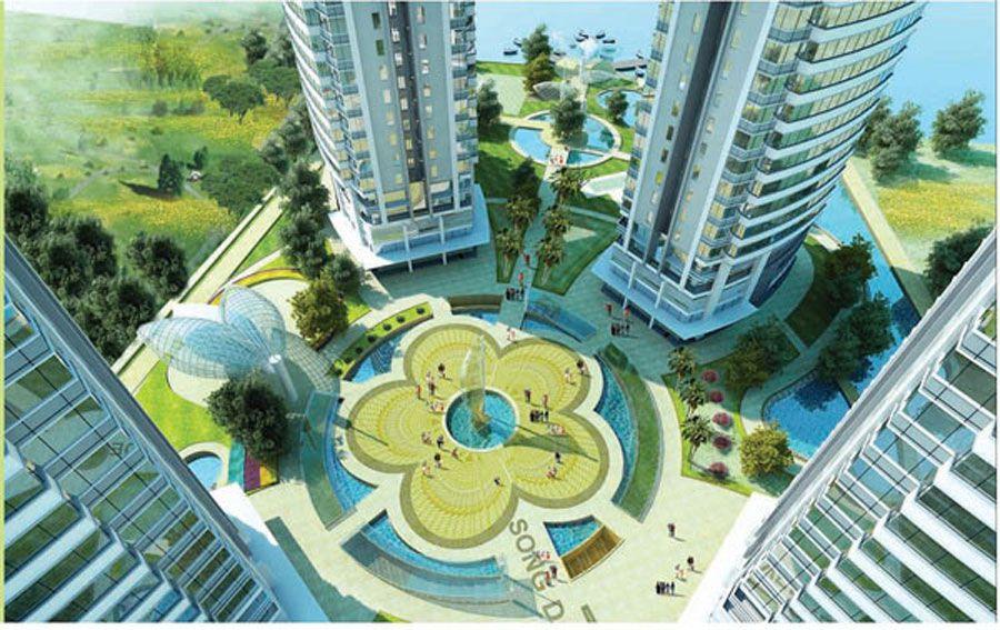Perspective of apartment project District 7 Saigon Riverside