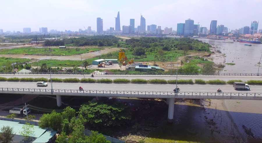 beautiful bridge in Ho Chi Minh City