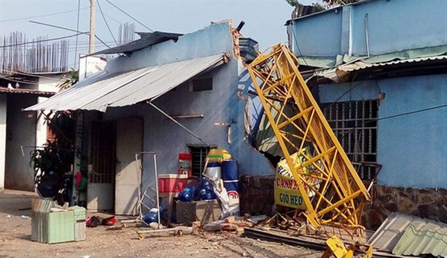 Topaz Home project was suspended due to crane failure