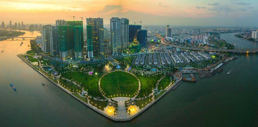 5 high-end projects are located along the Saigon Riverside
