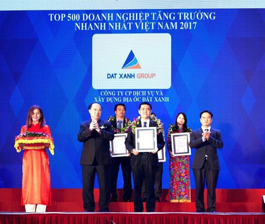 Green land is in the top 150 fastest growing enterprises in Vietnam