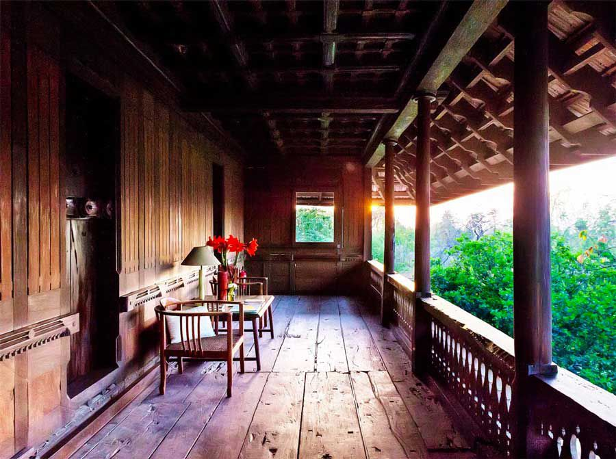 The ancient wooden house stretches 1,500 miles