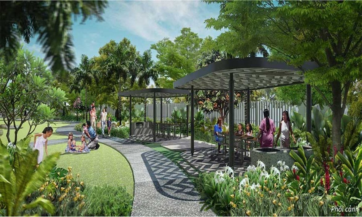 Unique green spaces are only available at Gem Riveside
