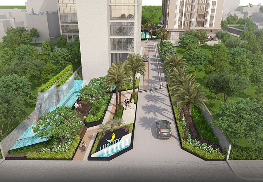Green Land deliveried Luxcity apartment on time
