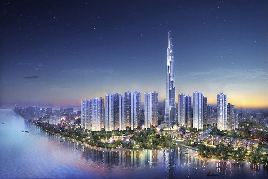 The tallest building in Vietnam - The Landmark 81 is about to build a roof