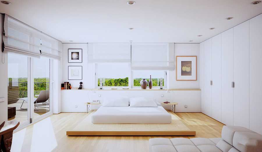 Bright white for bedroom furniture