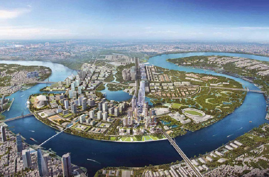 Realistic image of the project of Thu Thiem New City