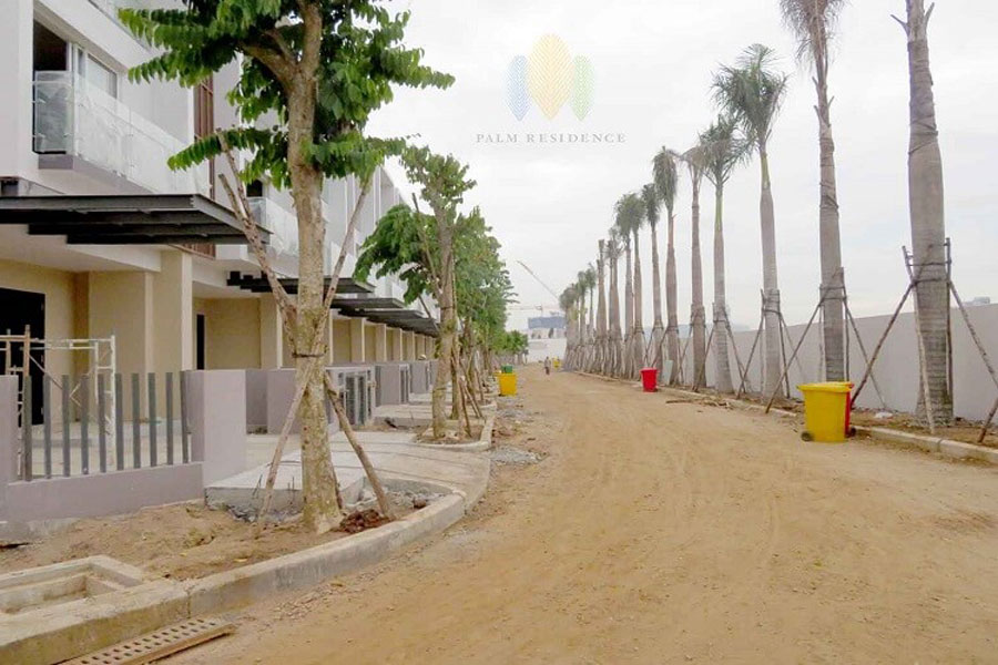 Image of the internal road at the Palm Residences