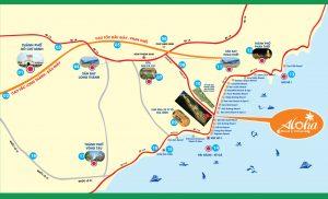 Location of Aloha Beach Village project