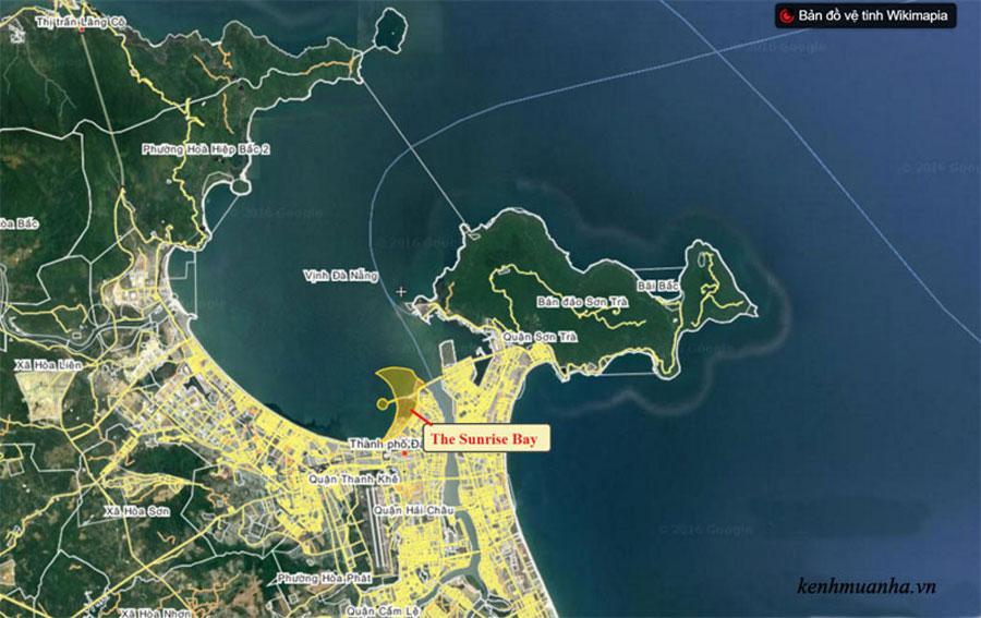 Location of The Sunrise Bay Da Nang Project.