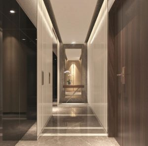 Perspective-hallway-of-the-apartment-floor