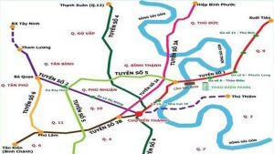 Planning map of metro lines in Ho Chi Minh City