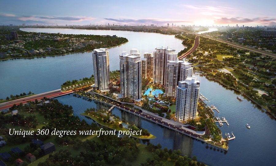 Diamond Island project is adjacent to District 1