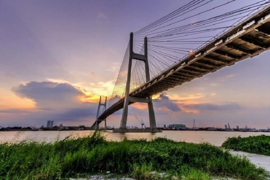 Thu Thiem 4 bridge in Ho Chi Minh City