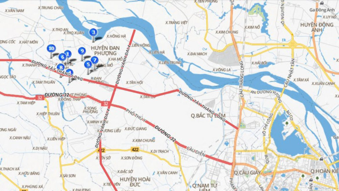 price of land in dan phuong, hoai duc is raising thanks to planning