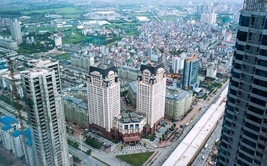 Real estate area in Ha Dong