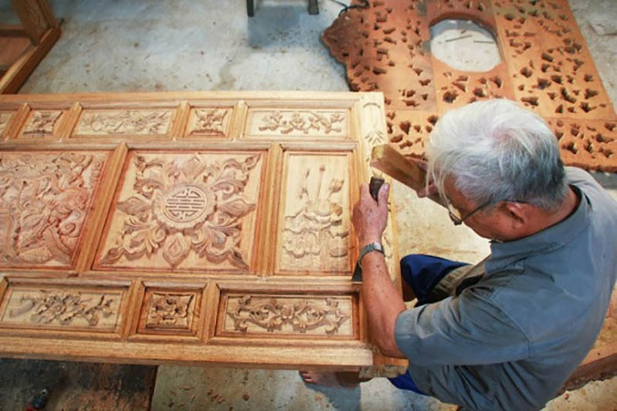 Carpentry with a long history of tradition