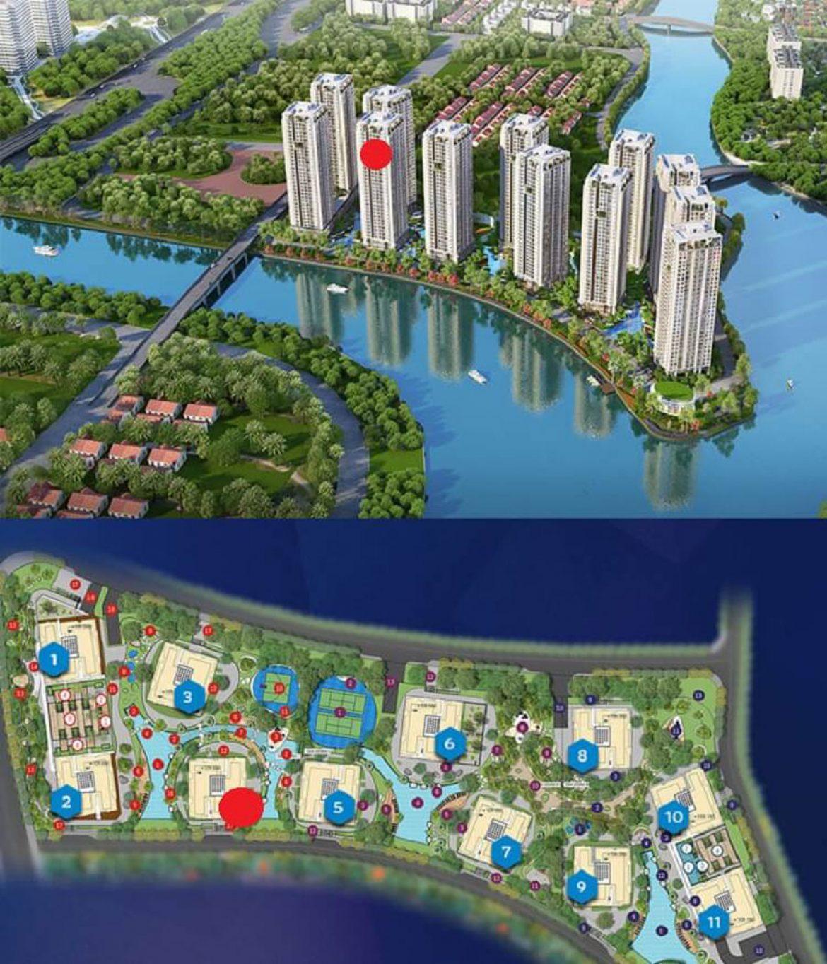 Location block 4 (circle orange) Ruby Riverside subdivision, project Gem Riverside District 2