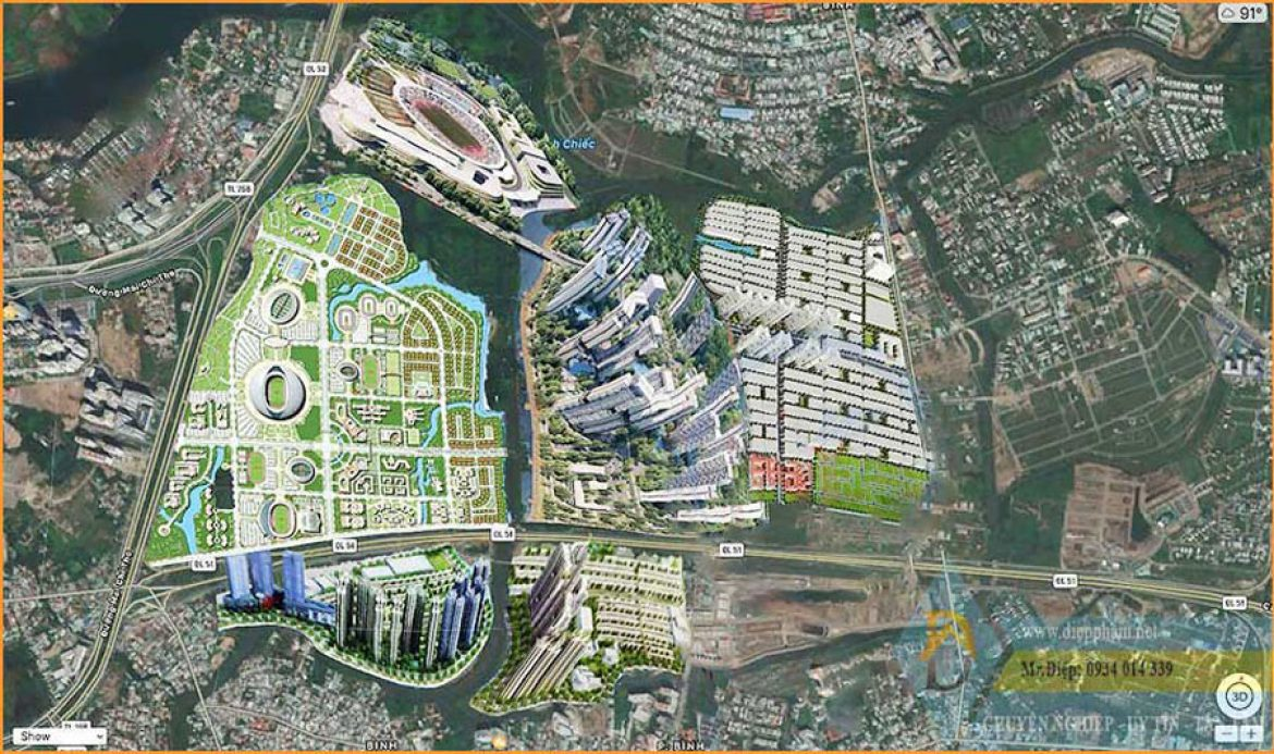 Overall view of Rach Chiec area - Rach Chiec Golf Course - Saigon Sports City - Rach Chiec Sports Center