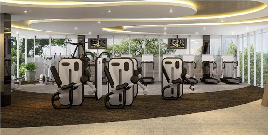 Perspective of Palm Garden gym facilities
