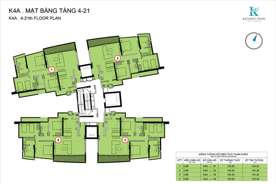 Perspective of the three-bedroom apartment at Kenton Node