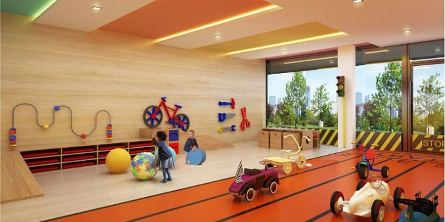 Perspective play room for children