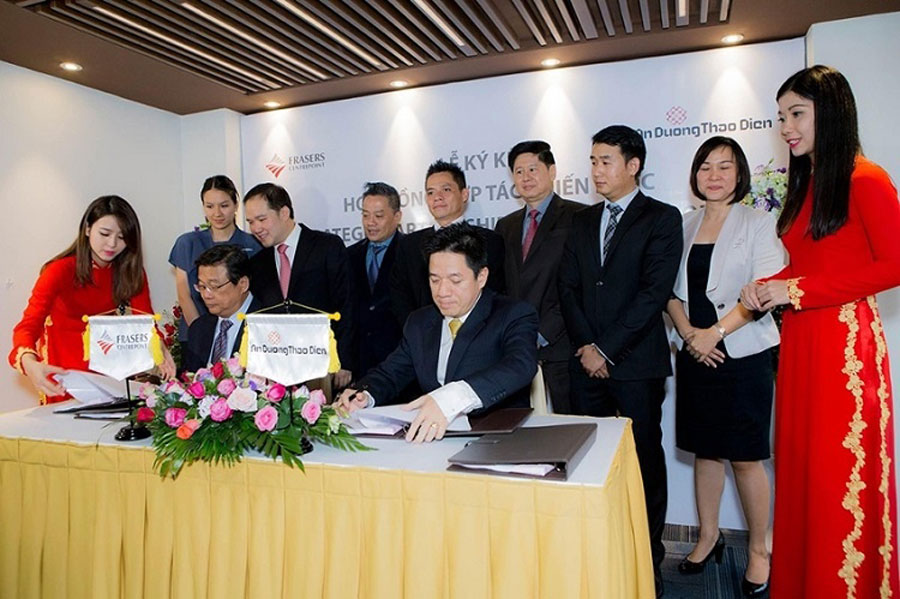 The signing ceremony of Q2 Thao Dien