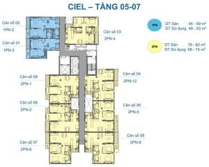 Ciel Tower apartment from floor 5 - 7