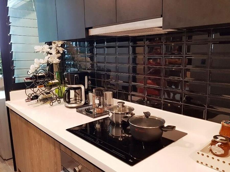 Design kitchen area model De La Sol project.