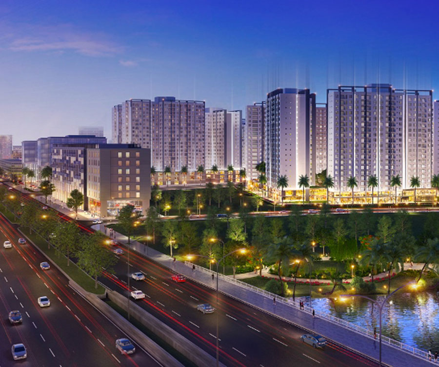 Akari City urban area project