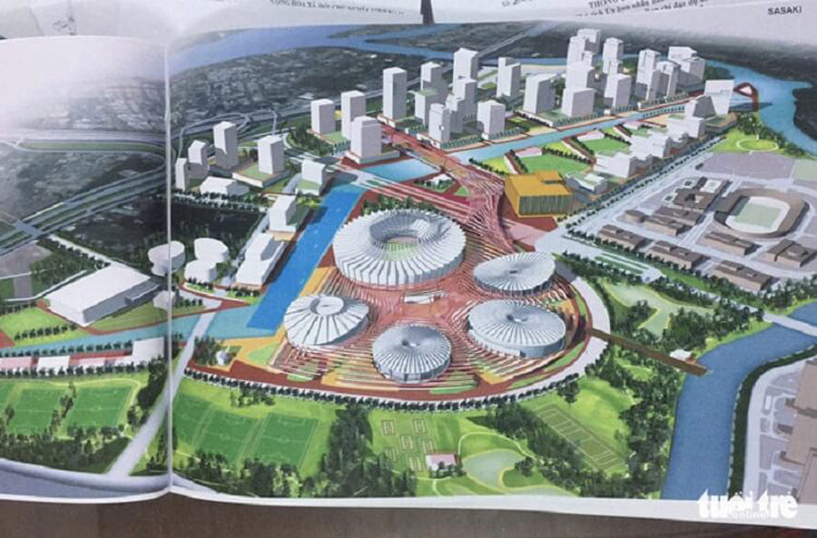 Perspective of the Sasaki Sports Complex of Sasaki
