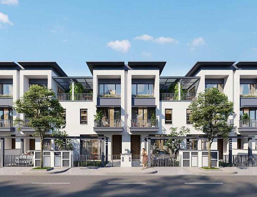 Simulate the villa in the urban Swan Bay Nhon Trach